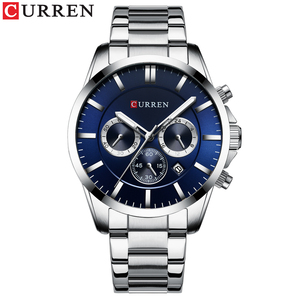 Image 2 - New Watches Men Top Brand CURREN  Luxury Quartz Watch Mens Casual Military Wristwatch Stainless Steel Clock with Chronograph