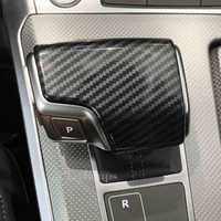 Car Styling automatic speed gear shift knob head carbon fiber covers Stickers For Audi A6 C7 2012 2019 Interior Auto Accessories