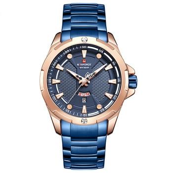 Men's Watches Top Luxury Brand NAVIFORCE Analog Watch Men Stainless Steel Waterproof Quartz Wristwatch Date Relogio Masculino 5