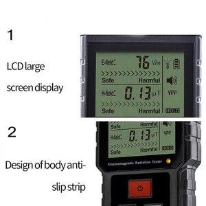Image 3 - קרינה אלקטרומגנטית כף יד דיגיטלי מד מינון LCD מדידה גלאי מונה גייגר נעילת קול MT525 אור 9V EMF