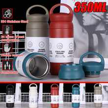 304 Stainless Steel Vacuum Jug Insulated Water Bottles 350ML Portable Vacuum Flasks Thermoses thermo Mug Coffee Soup Thermocup(China)