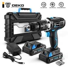 DEKO GCD20DU3 20V Max Household DIY Woodworking Lithium-Ion Battery Cordless Drill Driver