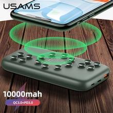 USAMS Drahtlose Ladegerät Power Bank QC 3,0 PD Schnelle Lade Externe Batterie Ladegerät Power Für Xiaomi/iphone/Huawei mobile