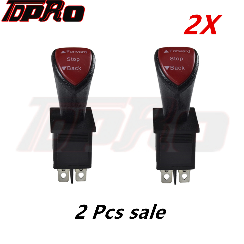 2Pcs Forward Reverse Toggle ON/OFF Switch 12v 24v 36v 48v For Burshless Motor Electric Go Kart Parts Quad Buggy Pit Bike Scooter