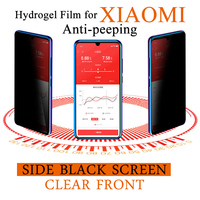 Anti-Peeping Screen Protector Für Xiaomi 11 9X CC9 Mi 10 Ultra Hinweis 9 Lite Weiche Privatsphäre Hydrogel Film redmi 10X K20 K30 Pro