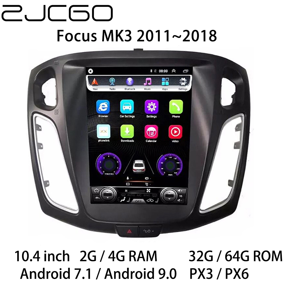 Car Multimedia Player Stereo <font><b>GPS</b></font> DVD Radio Navigation Android Screen for <font><b>Ford</b></font> <font><b>Focus</b></font> MK3 2011 2012 2013 2014 2015 2016 2017 2018 image