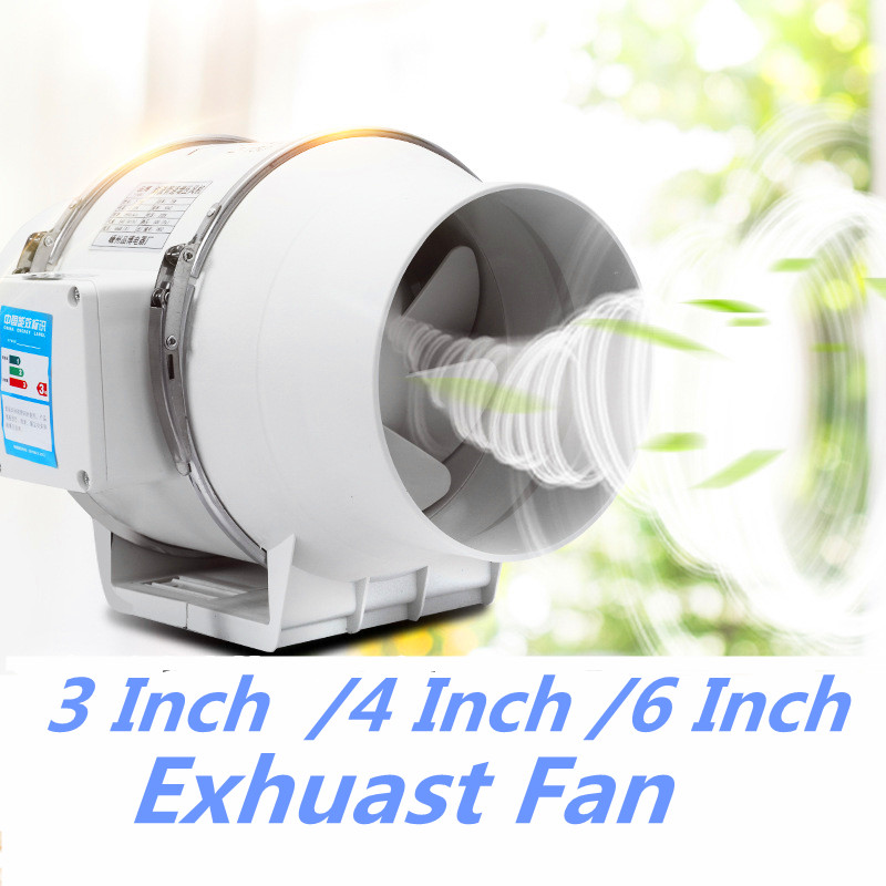 220V 3 Inch 4 Inch Low Noise Inline Duct Hydroponic Air Blower Fan Exhaust Fan For Home Bathroom Ventilation Vent And Grow Room