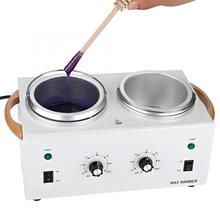 New Double Pot Depilatory Wax Warmer Machine Paraffin Wax Heater For Hand And Foot SPA Epilator Hair Removal Tool