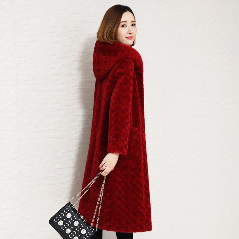 Sheep Shearling Winter Two Side Wear Real Fur Coat Wool Jacket Women Clothes 2020 Manteau Femme 22015-1 YY1118