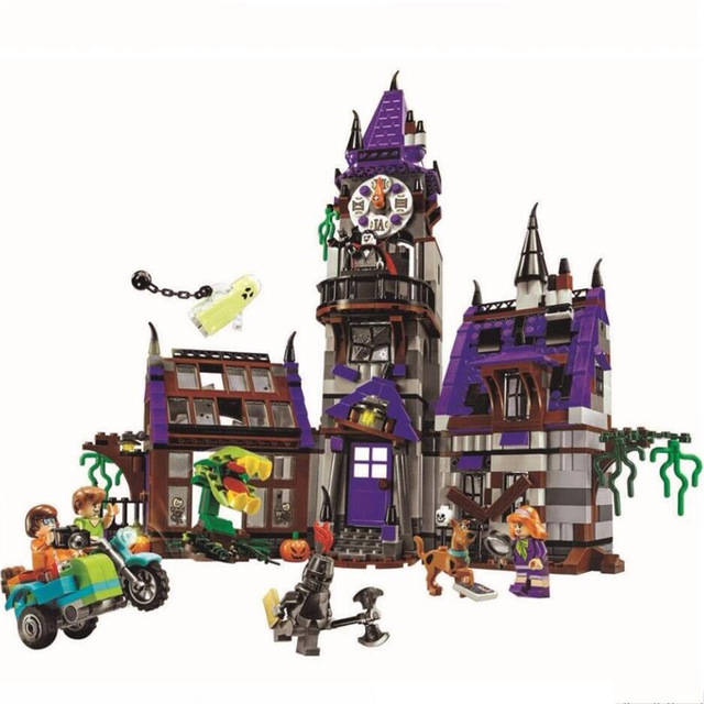 Scooby Doo Mystery Mansion Building Blocks Scoobydoo Shaggy Velma Vampire  Kids Toy Gifts Compatible With Legoinglys