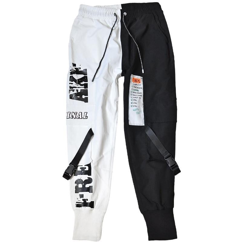 2020 Hip Hop Pants For Men Joggers Casual Streetwear Harem Pants Homme Male Trousers Ribbons Sweatpants