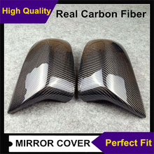 Pair car styling for Bmw X5M X6M F85 F86 2014 2018 real carbon fiber rearview side original style mirror housing cover caps trim