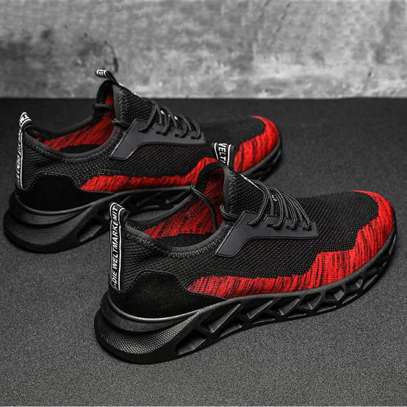 New Style Fly Woven Breathable Korean-style Students Casual Shoes Men Outdoor Sports Running Shoes Casual Sneakers Wear-Resistan