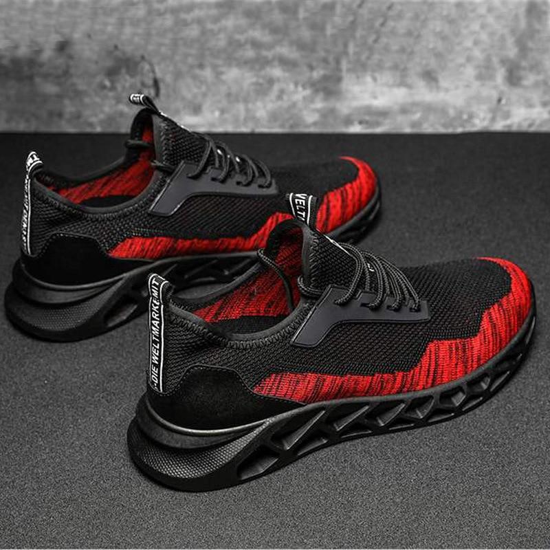 Nieuwe Stijl Fly Geweven Ademend Koreaanse Stijl Studenten Casual Schoenen Mannen Buitensporten Loopschoenen Casual Sneakers Wear- resistan