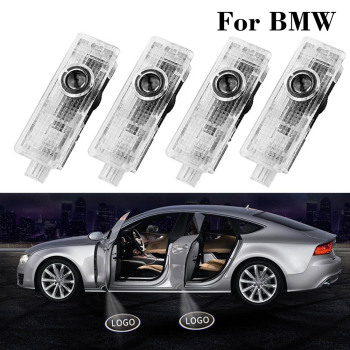 4 Pcs Led Welcome Light Car Logo Ghost Door Lamp Laser Projector Luces For BMW X5 E70 E60 E90 F10 F20 X1 X3 E92 E87 3 5 7 Series image