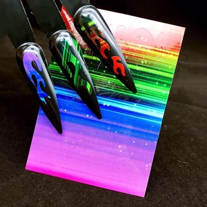 Image 4 - הולוגרפית צבעוני נייל רדיד להבה Holo נייל אמנות העברת עצמי דבק להבה נייל מדבקות שקופיות נייל אמנות מדבקות