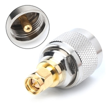 1pc Brass Adapter PL259 UHF Plug Male Nickel plating To SMA Gold RF Connector Straight P31