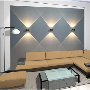 Image 4 - 6W LED colorful wall lamp, aluminum upper and lower indoor lighting wall lamp, for bedside living room bedroom wall lamp
