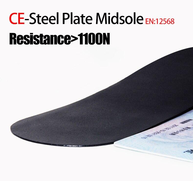 construção respirável calçado de proteção de aço