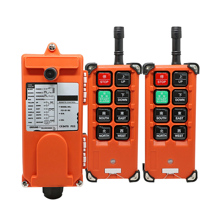 F21-E1B Wireless Electric Hoist Industrial Remote Control Switches Hoist Crane Control Lift Crane 2 Transmitter + 1 Receiver