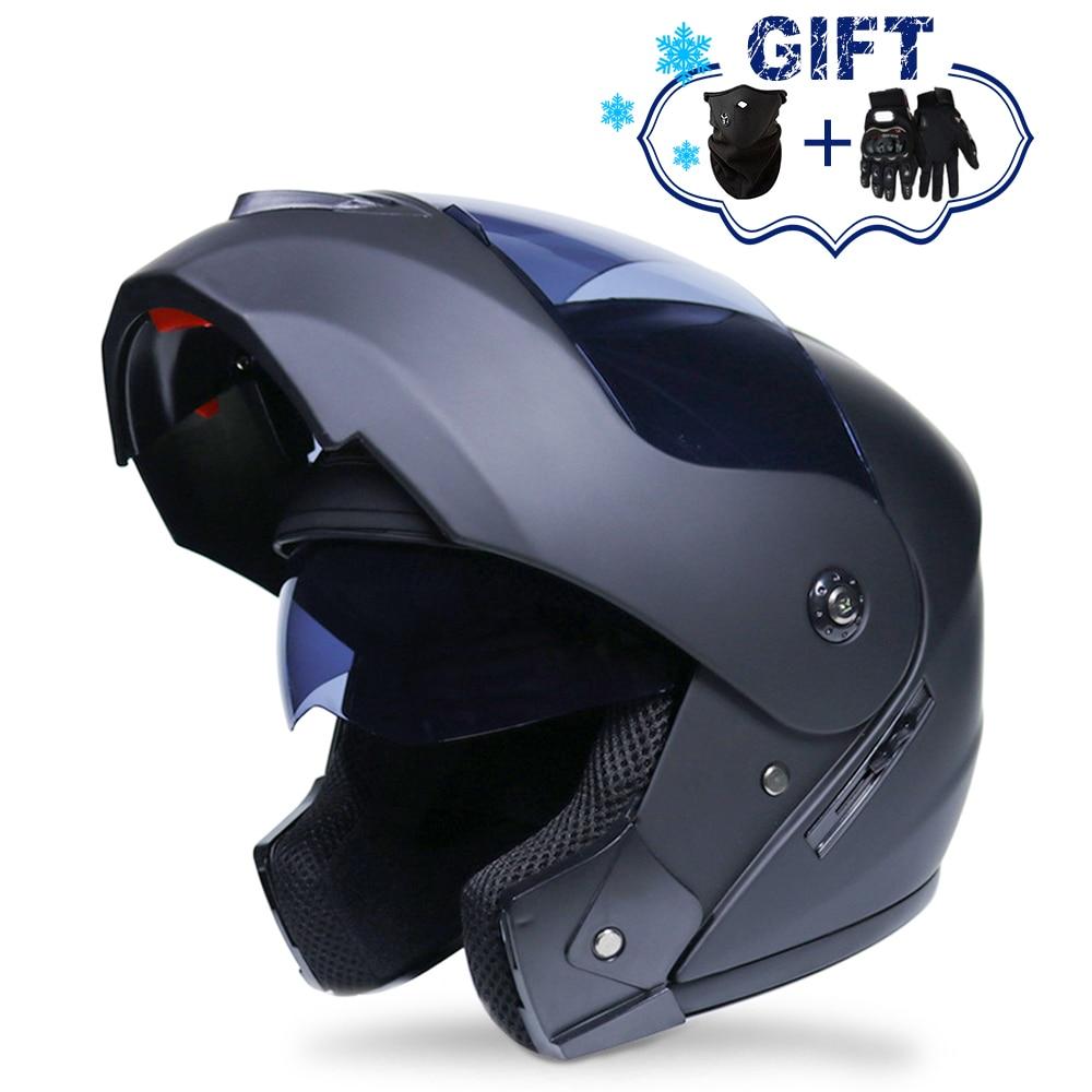 2019 New Flip Up Motorcycle Helmet Motorbike Modular Dual Lens Motocross Moto Helmet Crash Full Face Helmets Casco Moto Casque
