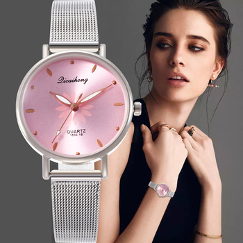 Montre femme 2020 Female wristwatch Casual Quartz Stainless Steel Band New Style Strap Watch Analog Wrist Watches Dress Bracelet thin case mens wristwatch nylon watch band casual men wood watch analog dial display black stainless steel buckle montre homme