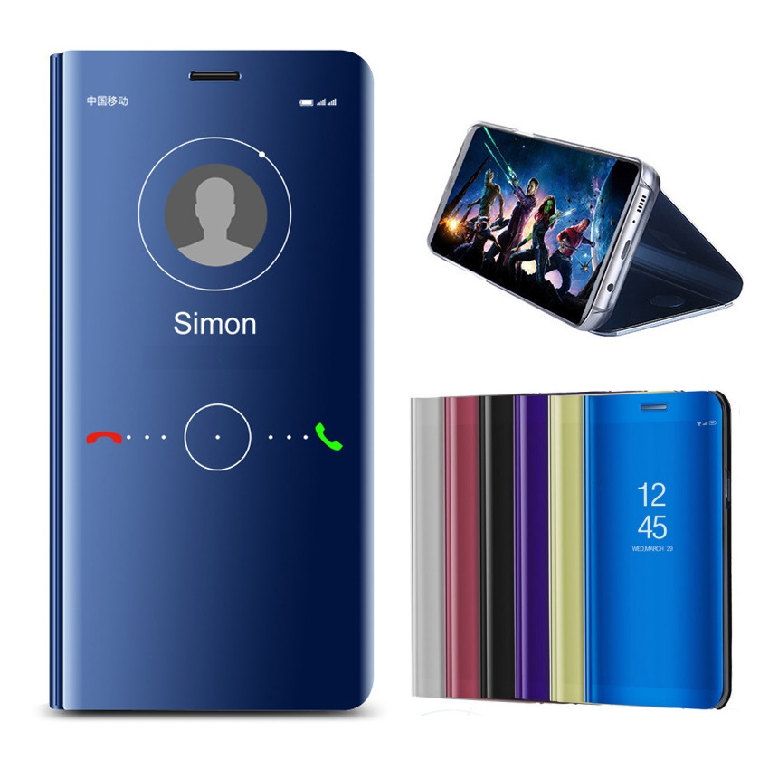 Hot Smart Mirror Flip Case For Huawei Y5 Y6 Y7 Y9 2019 Shockproof Kickstand Cover Prime 2018 Coque Fundas