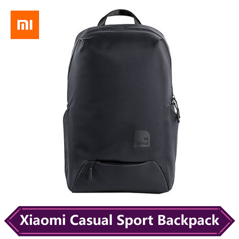 Original Xiaomi Fashion Sport Styles Bag Travel Backpack 15.6 Inch Laptop Bag 23L Big Capacity IPV4 Waterproof Mi Backpacks