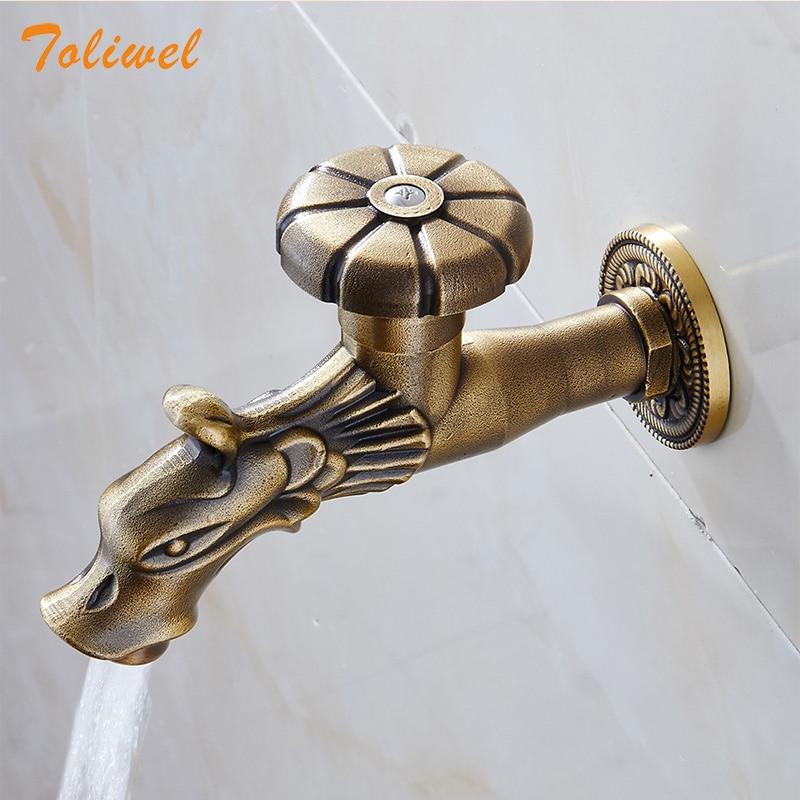 Dragon robinet d'eau extérieur jardin robinet d'eau froide buanderie salle de bain weroom cuisine mural évier robinet robinet robinet robinet Bibcocks