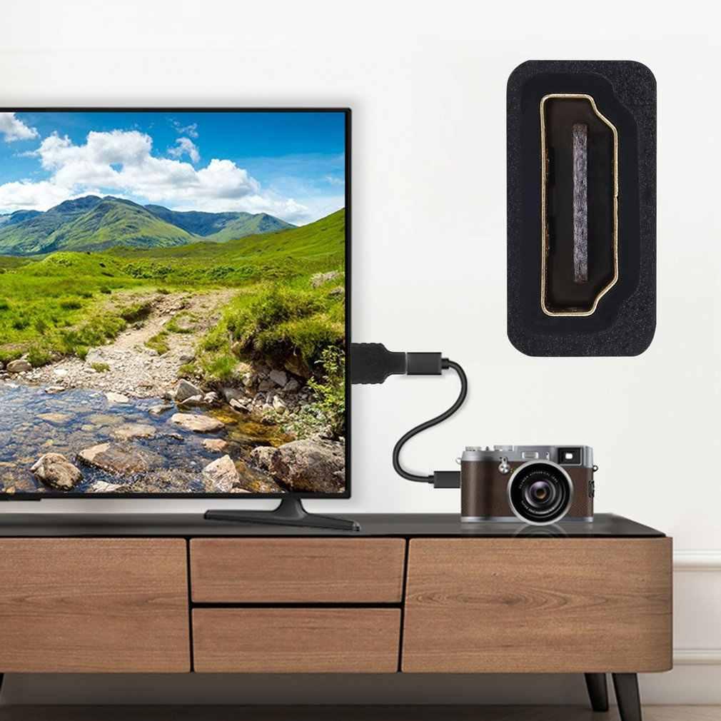 Adaptateur HDMI femelle vers Micro HDMI/TYPE D adaptateur mâle connecteur plaqué or adaptateur HDMI F/DM pour téléviseurs LCD