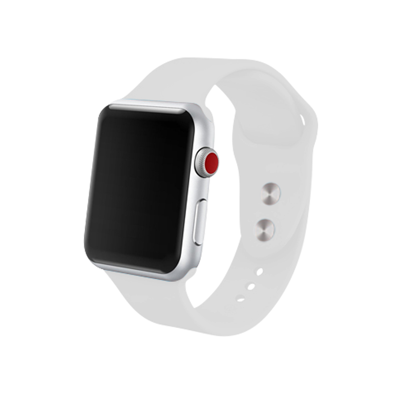 For Apple Watch Series 2 3 38mm 42mm Bands White Silicone Strap I Watch Series 5 4 Bracelet 44 Mm 40mm