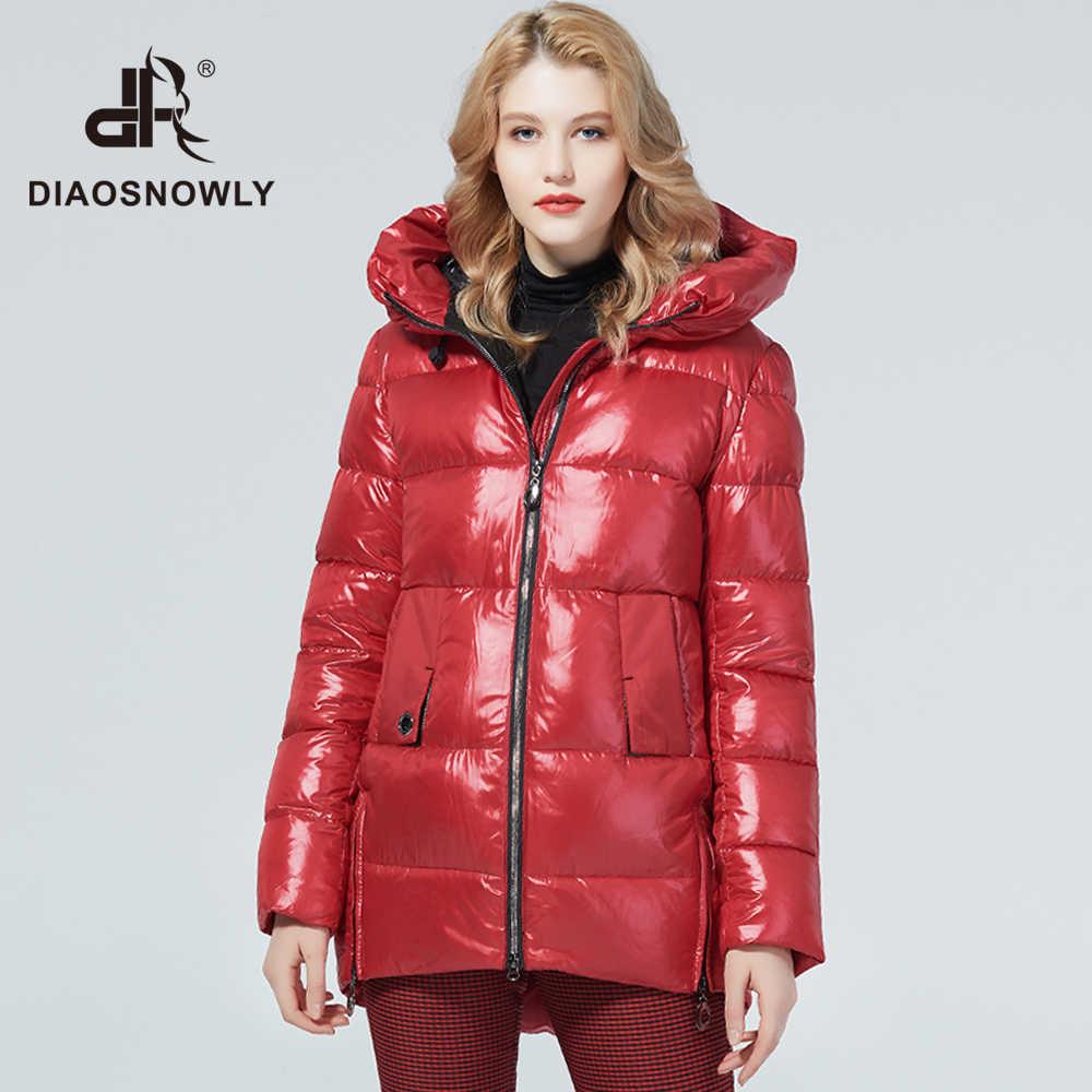 Diaosnowly 2020 신형 겨울 자켓 여성용 아웃웨어 코트 후드 자켓 여성 패션 웜 코트 중간 길이 파카 및 코트 여성용 겨울 의류 자켓 및 코트 여성용 파카