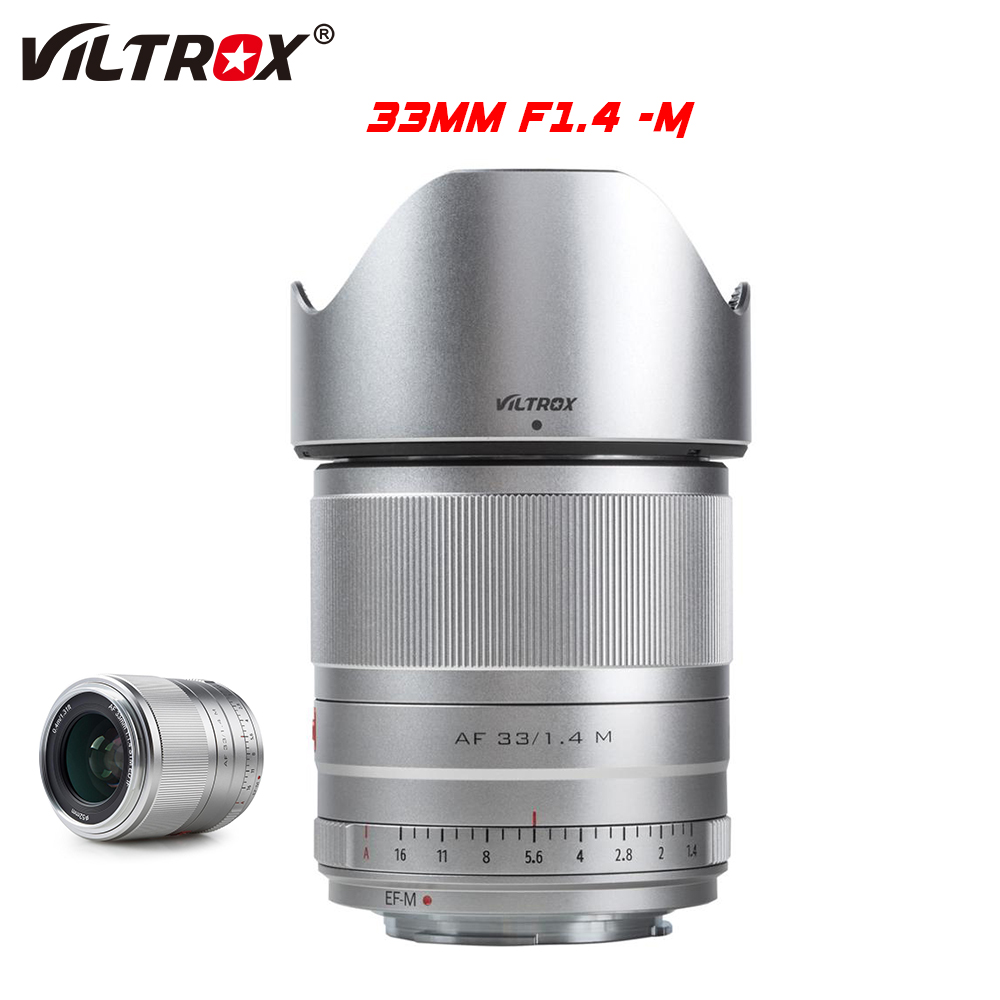 Viltrox 33mm f1.4 STM Auto Focus AF Prime Lens APS-C For EOS M M5 M6 Mark II M200 M50 Canon EOS M-mount Mirrorless Camera Canon