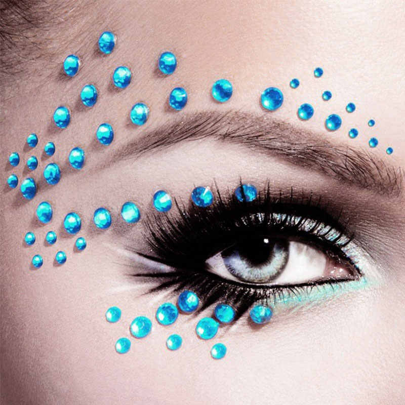 1 Pc 3D Sexy Crystal Eyes Glitter Gezicht Body Diy Diamant Festival Party Jewel Makeup Tools Eye Shiner Make Up versiering Sticker