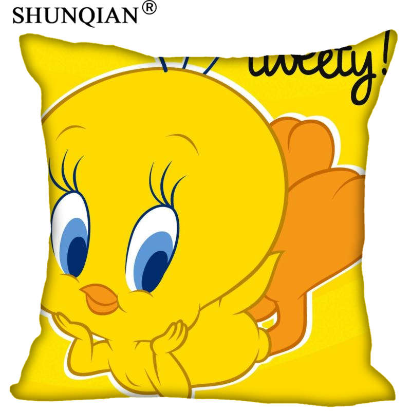 New Arrival Tweety Bird Square Pillowcases Zipper Custom Pillow Case More Size Custom Your Image Gift