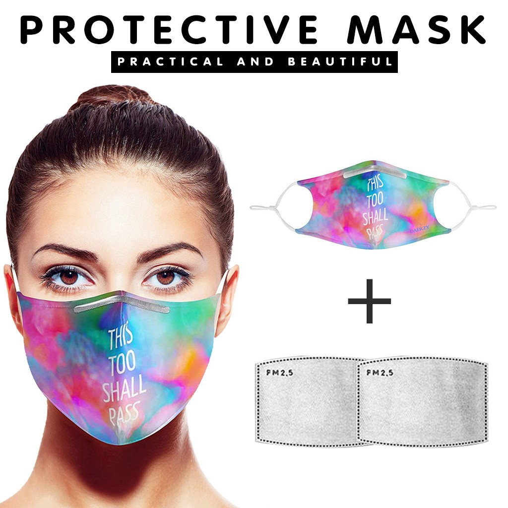 4 Pc Anti Pollution PM2.5 Seamless Mouth Mask Breathing Valves Filter Papers Anti-dust Mask Activated Carbon Filter Face Mask
