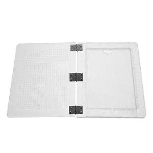 Image 2 - 25.5*21cm DIY Seal Stamp Block For Scrapbooking  Transparent Handle High Transparency Acrylic Pad Holder DIY Decoration Tools