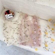 Женская Ручная сумка с цветочной вышивкой Повседневная сетчатые