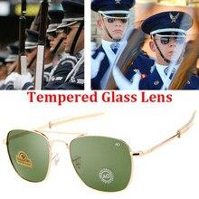 Nova moda aviação óculos de sol dos homens marca designer exército americano militar óptica ao óculos de sol para o sexo masculino uv400 oculos de sol