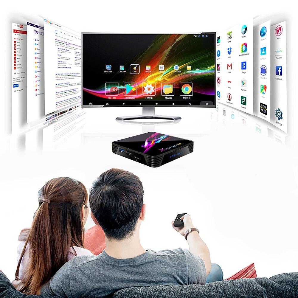 lowest price X88 PRO X3 Android 9 0 TV Box Amlogic S905X3 Quad core 5G Wifi 4K 2GB 16GB 4GB 128GB Set Top Box Google Media YouTube 64GB 32GB