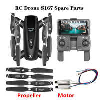 Original Propeller Accessories for RC Drones S167 3.7V Motor and S167-GPS 7.4V Motor Spare Parts Blade Engine Gear