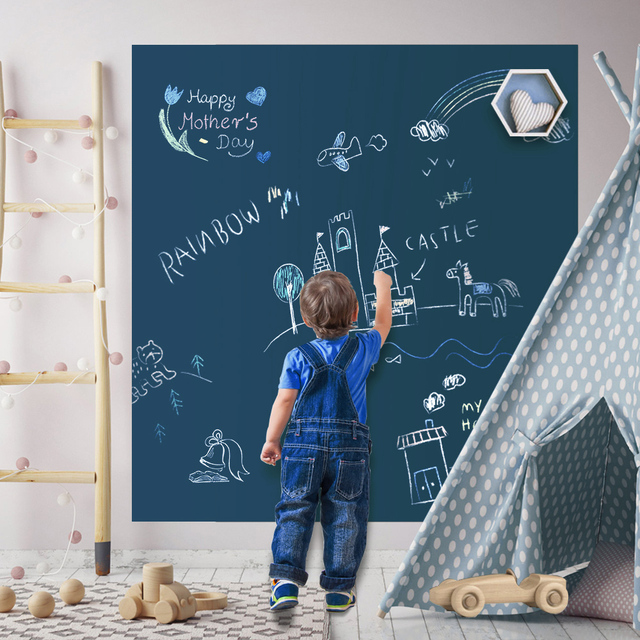 Manyetik DIY yazı tahtası çizim kurulu ile tebeşir kalem çocuklar boyama Doodle eğitim oyuncaklar çocuklar için doğum günü hediyesi