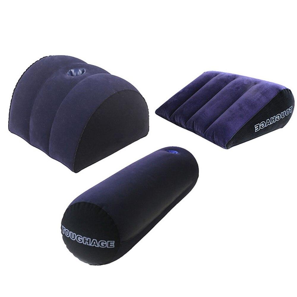Toughage confortável clímax posicionando o descanso do sexo para casais almofada macia da cunha inflável melhor vida sexual mobília adulta