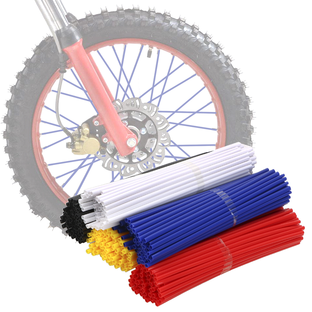 LEEPEE For Motorcycle Bike Universal Wheel Rim Spokes Skins Off Road Shrouds Covers for KTM Honda Kawas 72pcs image