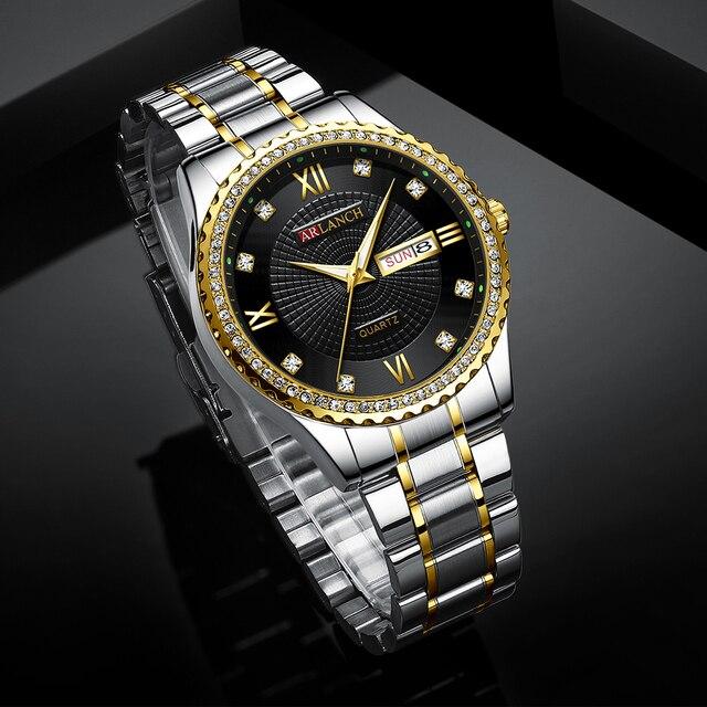 часы наручные мужские кварцевые с бриллиантами модные деловые фотография