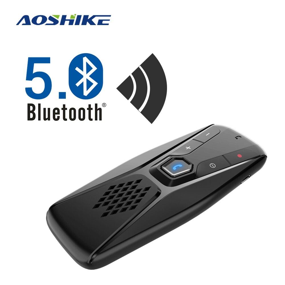 AOSHIKE Handsfree Bluetooth Car Kit Wireless Speaker Auto Sun Visor MP3 Player Bluetooth 5.0 Speakerphone for Phone Hands Free