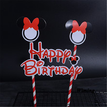 minnie mikey cake topper baby kids children birthday party supplies cake flags cake decorating minnie party cupcake toppers