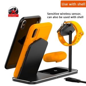 Image 4 - Iphone ワイヤレス充電器 3 1 でアルミ合金アップル時計 iwatch 1 2 3 4 5 airpods プロワイヤレス充電ドック