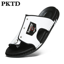 Sandalias para hombre, zapatillas nuevas de tendencia 2020, zapatos casuales a la moda coreana, zapatos de playa al aire libre