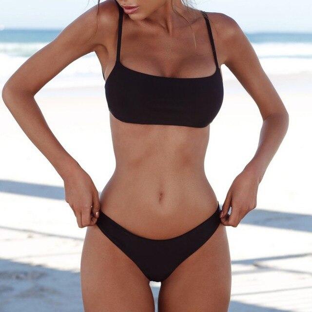 2021 New Sexy Push Up Unpadded Brazilian Bikini Set Women Vintage Swimwear Swimsuit Beach Suit Biquini bathing suits 2